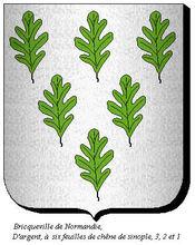Blason de Bricqueville normandie